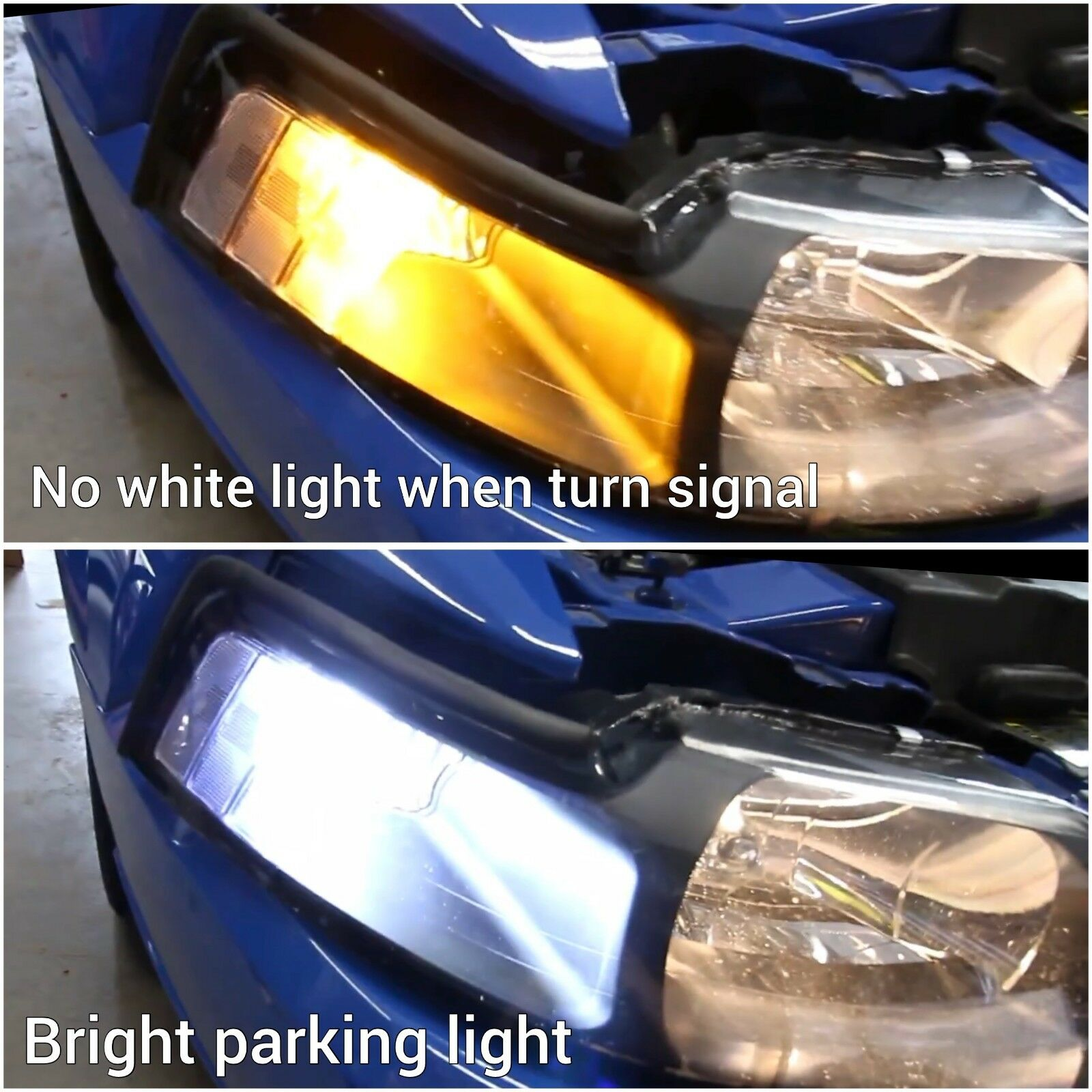 V2 Front Turn Signal 3157 3057 4157 Switchback 6K Amber LED Light Bulbs B1 A