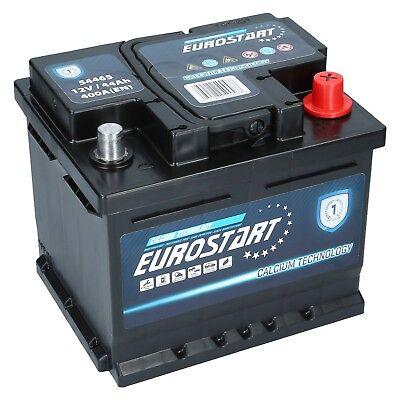 Starterbatterie 44Ah EUROSTART 12V 44 Ah 400A EN Autobatterie 24 Volt 100 Amp