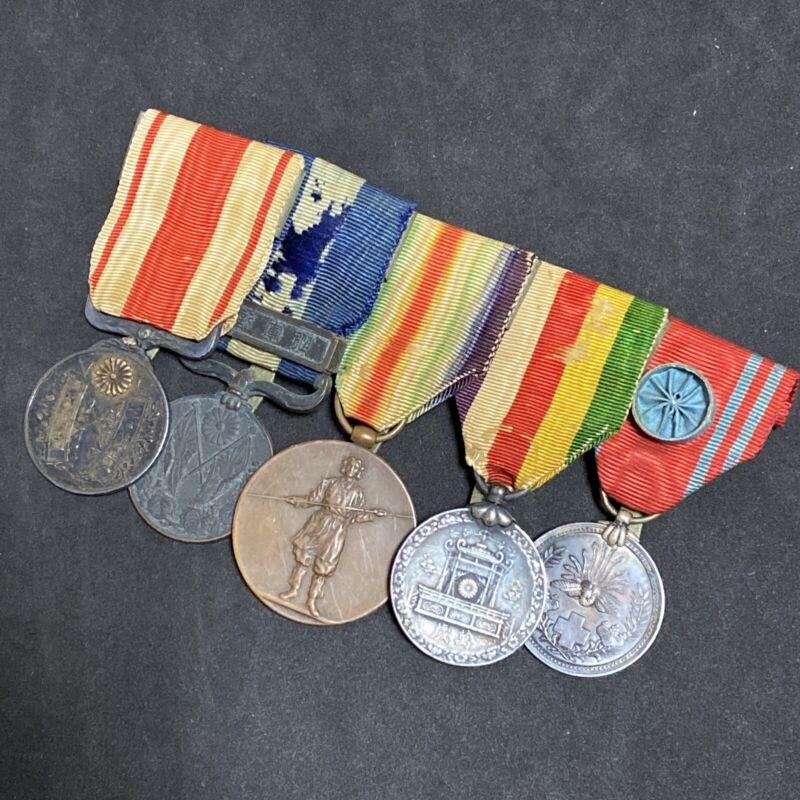 25b Japanese Medal WWI Allied Victory other Medal Badge Bar Set