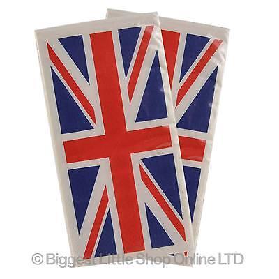 Neu 1 Packung Union Jack Getränke Tisch Servietten Tücher Britische Flagge Blau