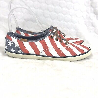 Keds Low Top Pumps 5 38 Stars And Stripes American Flag Lace Up Casual Shoes Usa