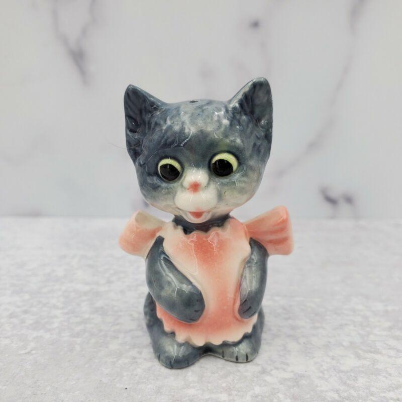 "Vintage Goebel Grey Cat Replacement Girl 3"" Salt or Pepper Shaker"