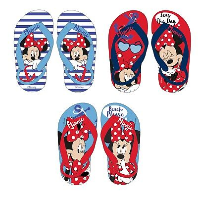 Disney Minnie Maus Mouse Badeschuhe Zehentrenner mit Fersenriemen - Minnie Maus Schuhe