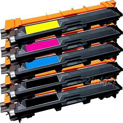 5 Pack TN-221BK TN-225 C/M/Y Color Toner Set For Brother HL-