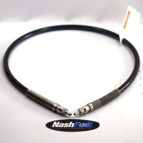 CNG Compressed Natural Gas Black Hose 5Ft Male Ferrule Ends Stainless Steel