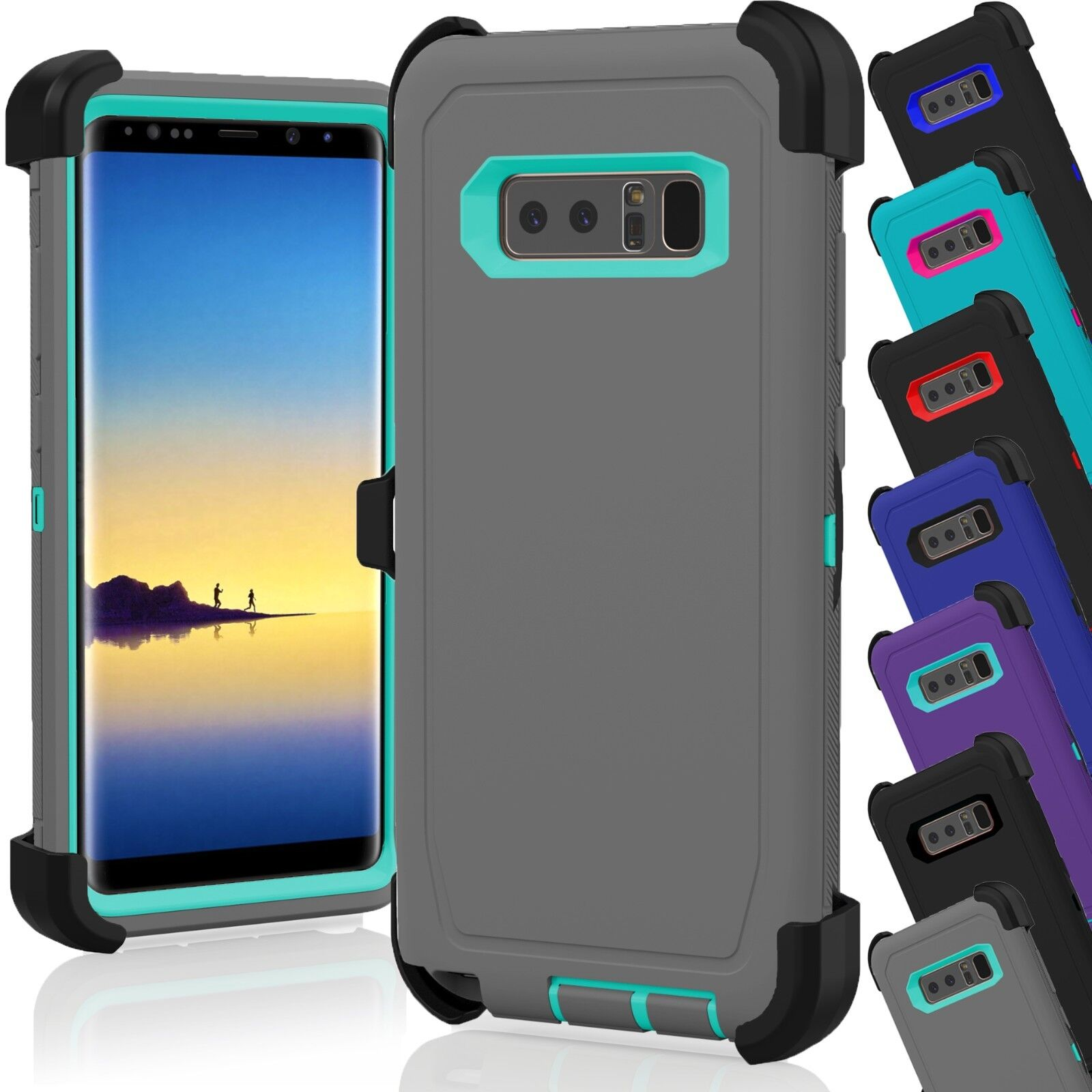 newest collection fad57 63682 Details about Samsung Galaxy Note 8 Case Cover Shockproof (Fits Otterbox  Defender Belt Clip)