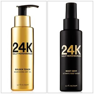 24k Sally Hershberger Hair Care Root Envy & Golden Touch Dry Oil