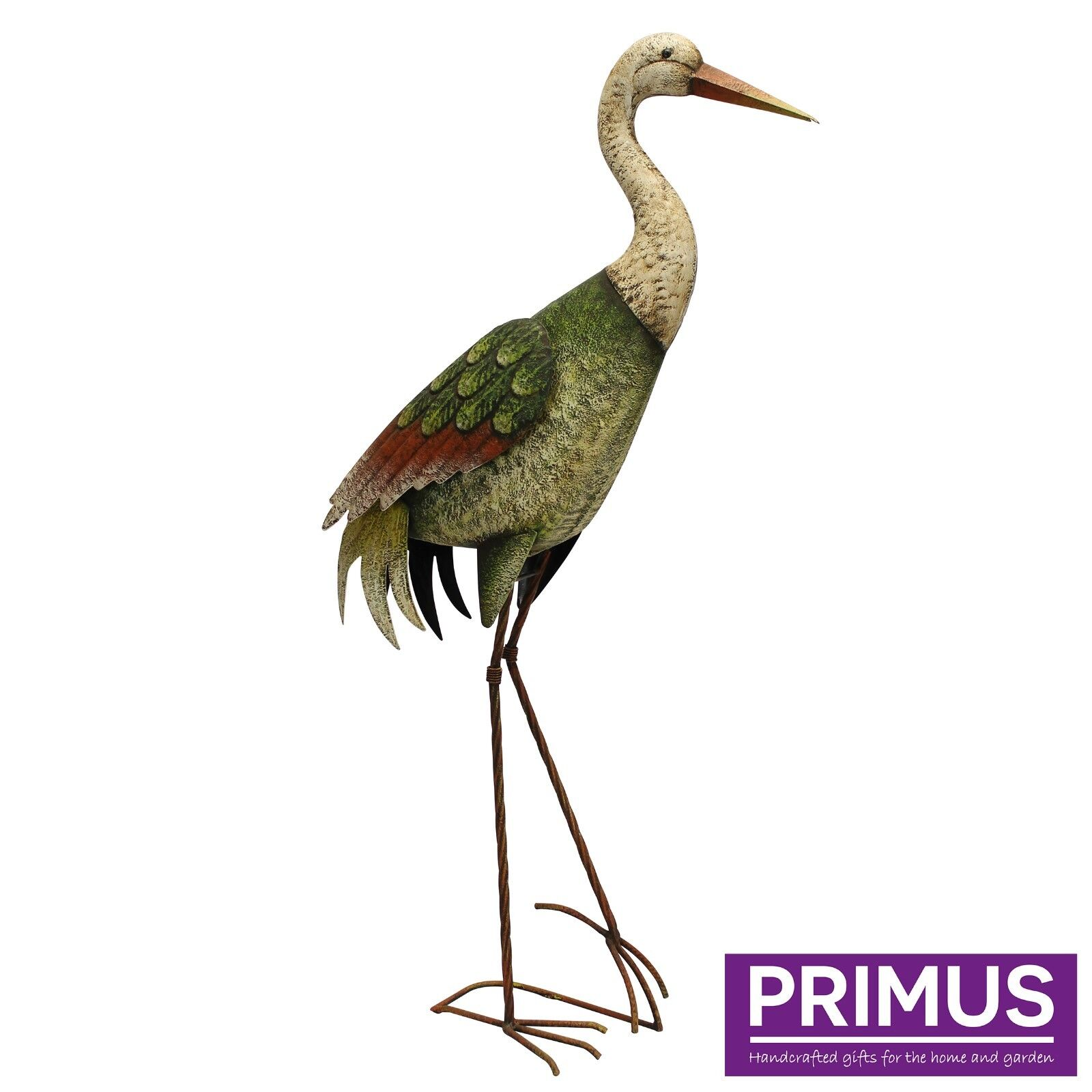 Primus Rural Metal Stork Garden Ornament Sculpture
