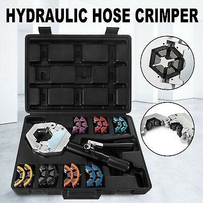71500 Ac Hydraulic Hose Crimper Tool Kit Crimping Set Hose Fittings Hand Tool