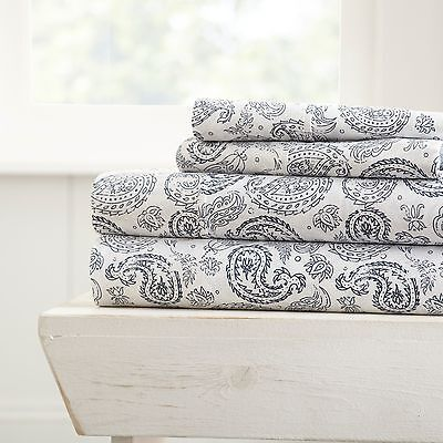 Hotel Collection-Ultra Soft 4 Piece Coarse Paisley Bed Sheet Set by iEnjoy home