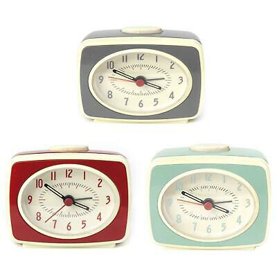 Small Classic Retro Analogue Alarm Clock Glow In The Dark Hands Battery