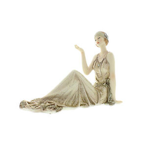 Juliana Art Deco Broadway Belles Cream /Gold Lady Figurine / Ornament.58428