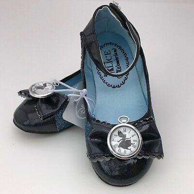 Alice In Wonderland Dress Up (Disney Store Alice in Wonderland Costume Dress Up Shoes Black Clock Gem RETIRED)