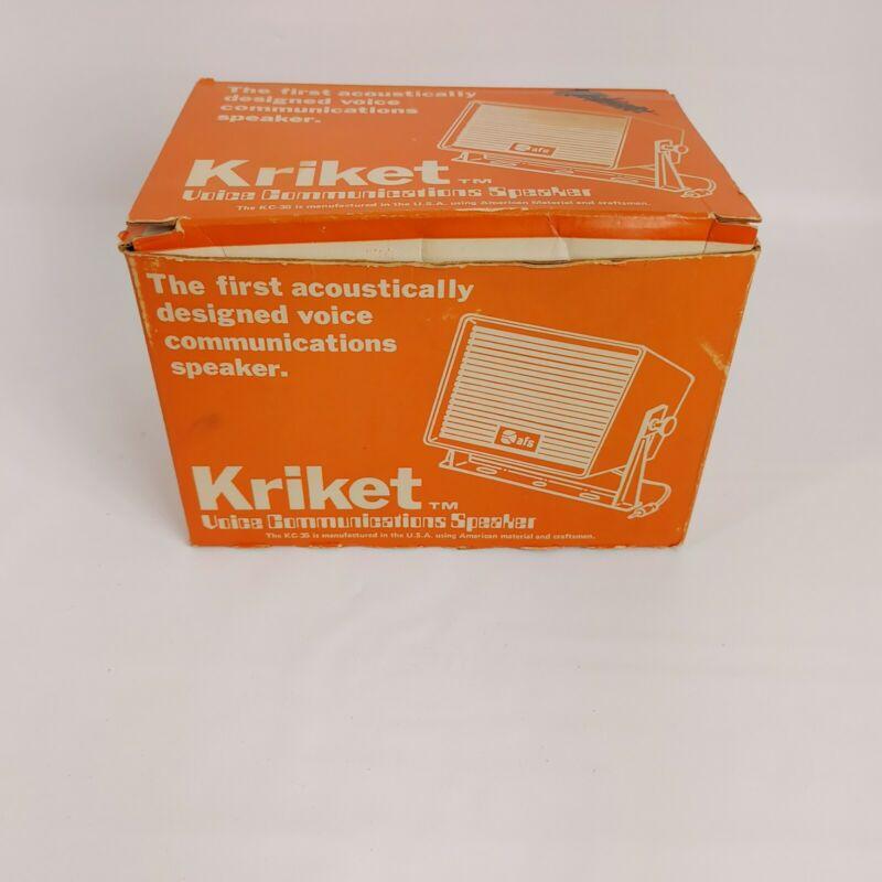 Vintage Kriket Voice Communications Speaker - Model KC-35