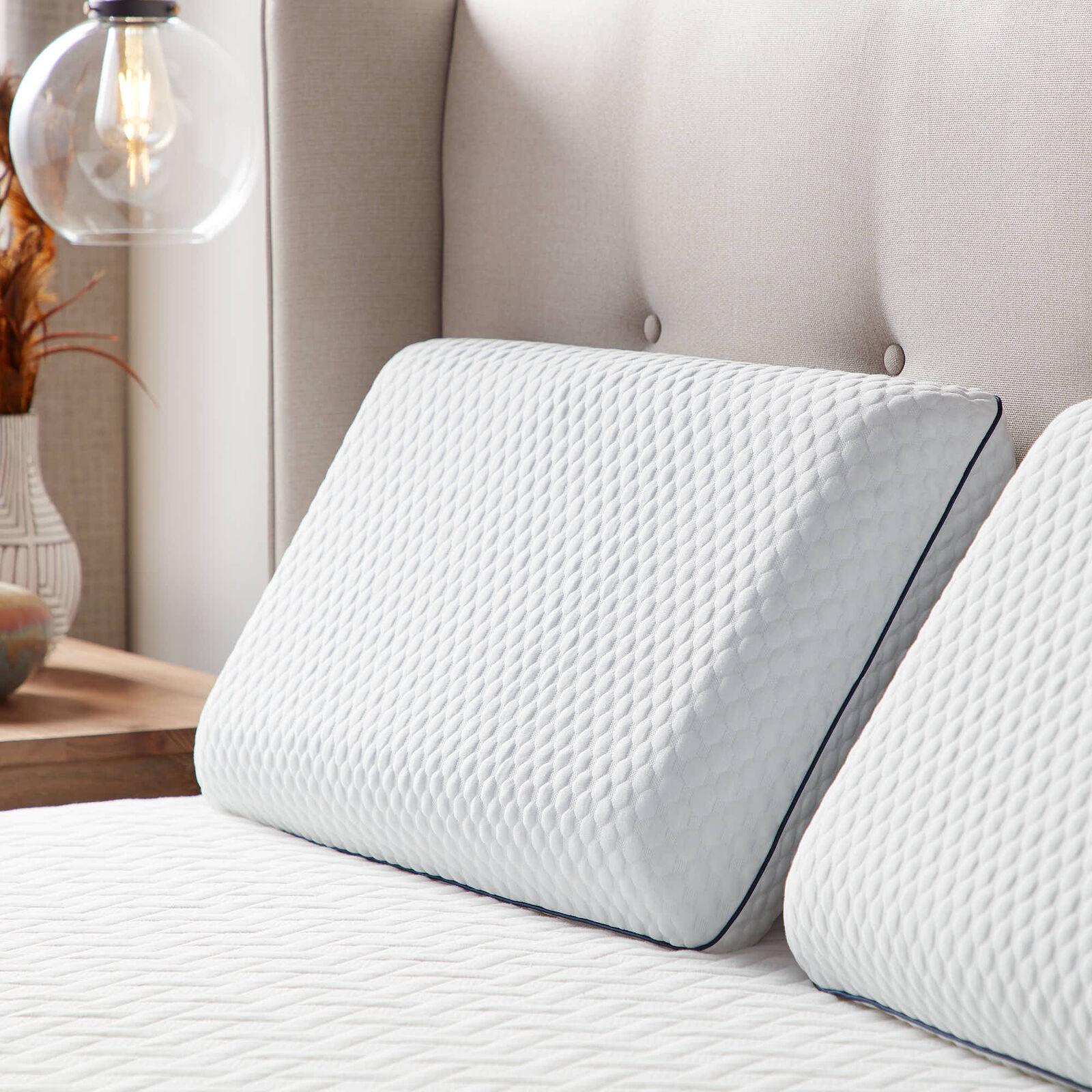 "2pk. New Cooling Gel Memory Foam Cluster 23""x16"" Bed Pillow Pillows"