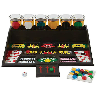 - 31 pcs Gambling Drinking Game Alcohol Beer College Party Bar with 6 Shot Glasses