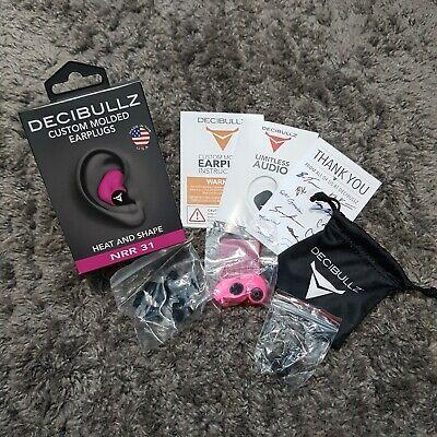 Decibullz Custom Molded Earplugs - Pink