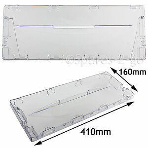 Plastic Drawer Cover Panel Flap Front for Indesit CA55 CAA55 Fridge Freezer