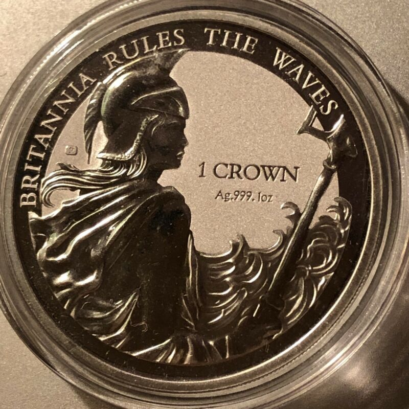 BRITANNIA RULES THE WAVES 2017 Falkland Islands silver 999 1 oz Rev Proof