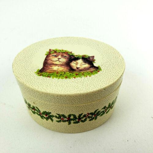 Rachel Badeau for Silvestri Christmas Cat Trinket Box 2008