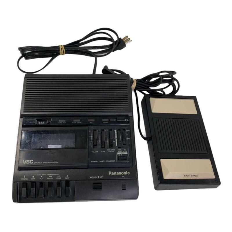 Panasonic RR-830 Desktop Cassette Transcriber / Recorder With Foot Control