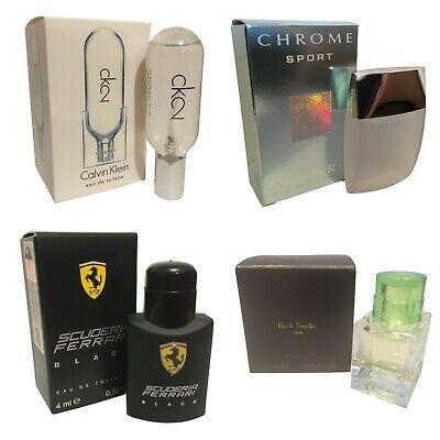 Miniature CK 2 Azzaro Chrome Ferrari Paul Smith Mens Aftershave Christmas
