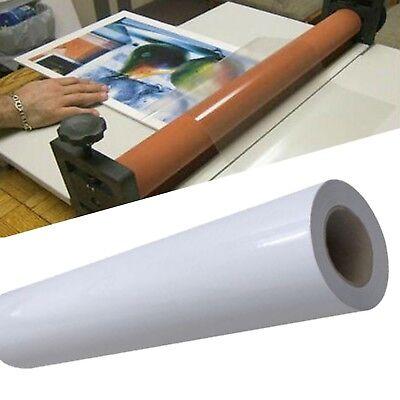 Glossy Cold Laminating Film Monomeric 3.15mil Paper Adhesive Glue 54x50yd Roll