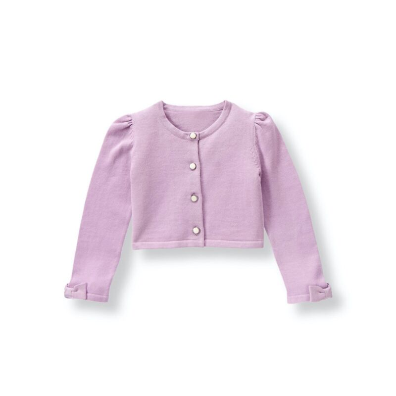 Janie and Jack Girls Size 6-12 Months Lavender Purple Cropped Cardigan