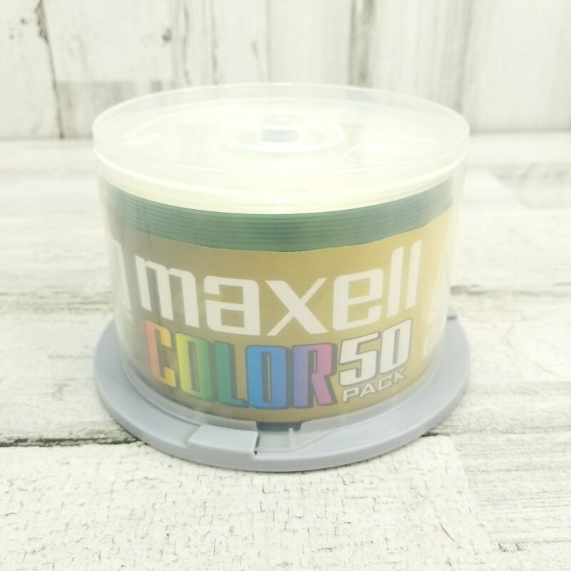 Maxell Color CD-R Spindle 50 Pack 650 MB 74 Min. Recordable Audio Disc