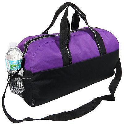 Purple/Black Gym Bag Duffel Workout Sport Bag Overnight Travel Carry on Bag  - Purple Duffle Bag