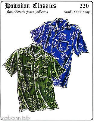 Loose-fit Casual Hawaiian Aloha Shirt Men S-4X Victoria Jones Sewing Pattern 220