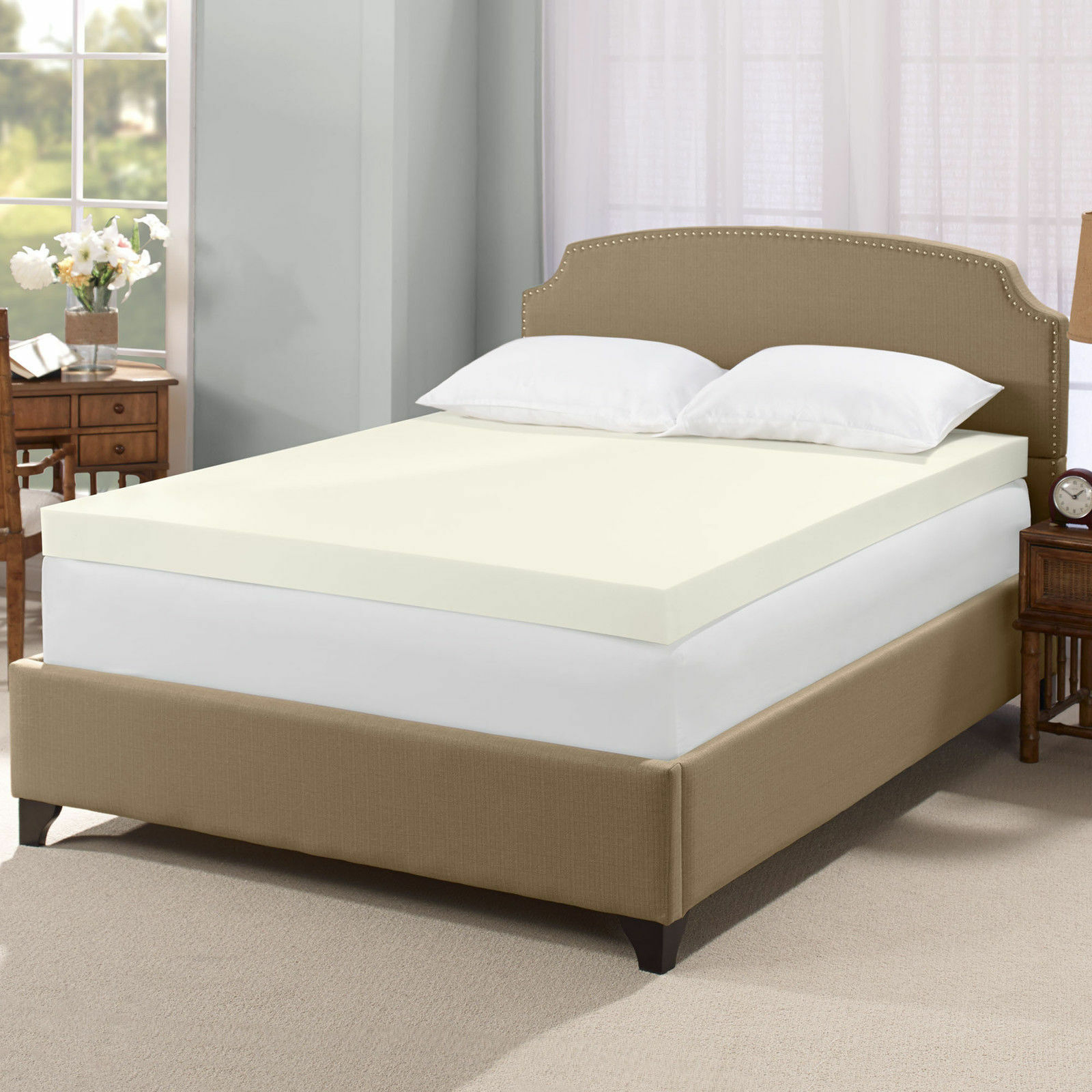 top 10 memory foam mattress toppers ebay. Black Bedroom Furniture Sets. Home Design Ideas