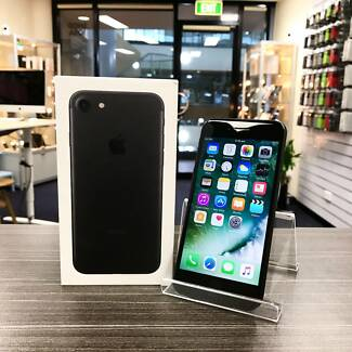 As new iPhone 7 Black 32GB unlocked with accessories INV WARRANTY
