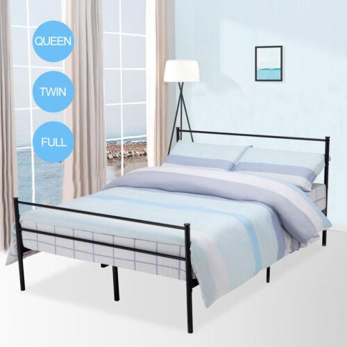 Twin/Full/Queen Size 6 Leg Metal Platform Bed Frame Foundati