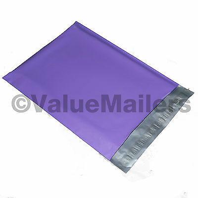 50 7.5x10.5 Purple Poly Mailers Shipping Envelopes Bag Couture Boutique Bags