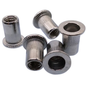 US Stock 10pcs M8x1.25x18mm LFK Stainless Steel Rivet Nut Rivnut Insert Nutsert