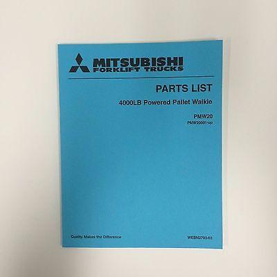 Mitsubshi Forklift Parts Manual Pmw20 4000lb Powered Pallet Walkie
