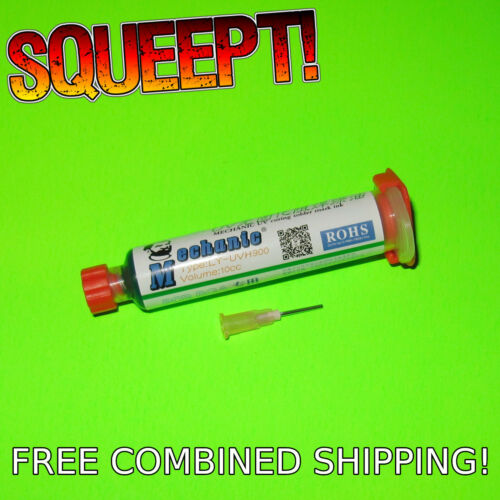 10ml Green UV Curable PCB Solder Mask - Mechanic LY-UVH900 - 10cc Curing Cure