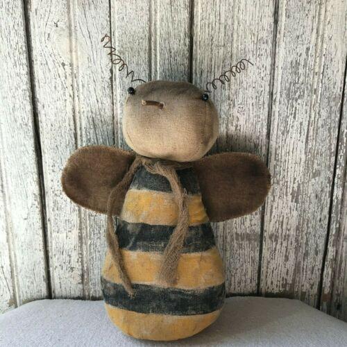 Primitive Honey Bee Doll Rag Stuffed Folk Art Summer Country Home Decor