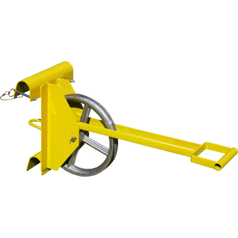 RoofZone Long-Handle Hoisting Wheel- Yellow Model# 13804