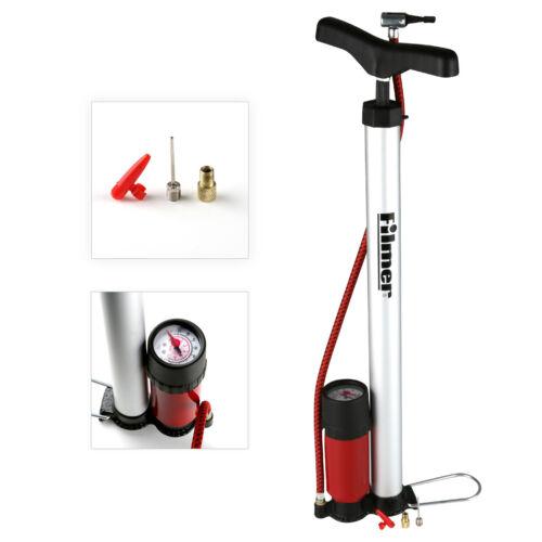 Fahrradluftpumpe Standpumpe Hochdruck mit Manometer für alle Ventile