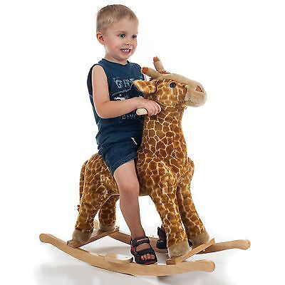 HAPPY TRAILS Giraffe Plush Rocking Animal - Great Gift for Kids