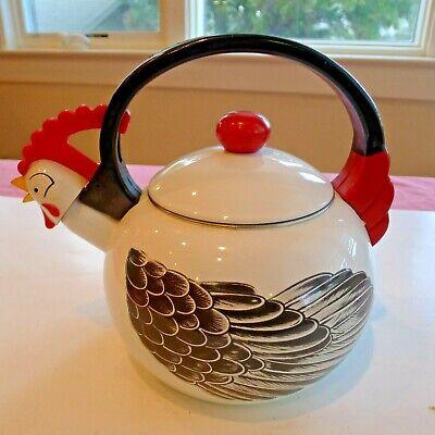Vintage Rooster or Hen Chicken Tea Pot Kettle Kamenstein Inc. Used as Decor