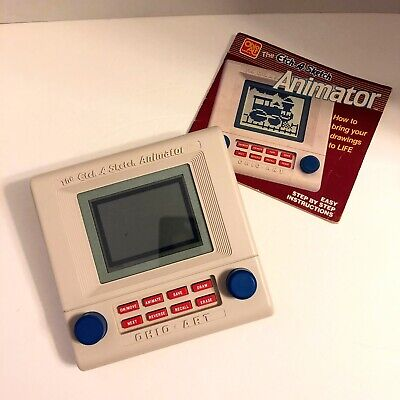 VTG Toy 1986 Etch A Sketch Animator With Instructions Works Ohio Art No Box