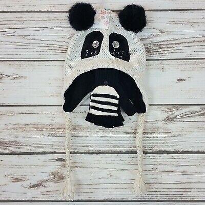 Panda Bear Girls Hat & Mitten 2 Piece - Panda Bear Hat