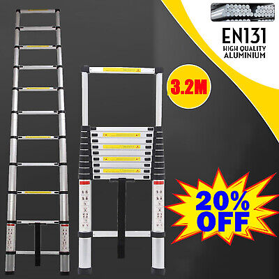 3.2M Telescopic Loft Ladder Extendable Collapsible Step Ladder Securing Bolt AAA