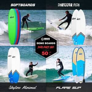 Up to 50% OFF! Soft surfboard, Epoxy fish, minimal, SUP demo sale