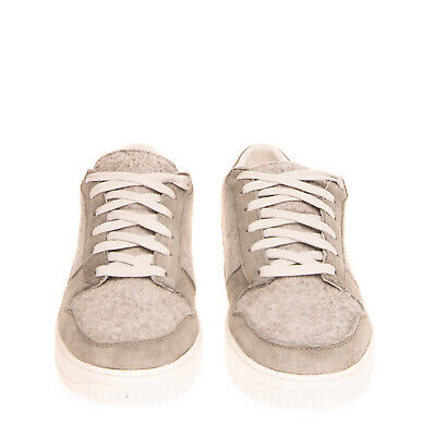 RRP €240 DIEMME Felt Sneakers Size 43 UK 9 US 10 Contrast Leather Made in Italy
