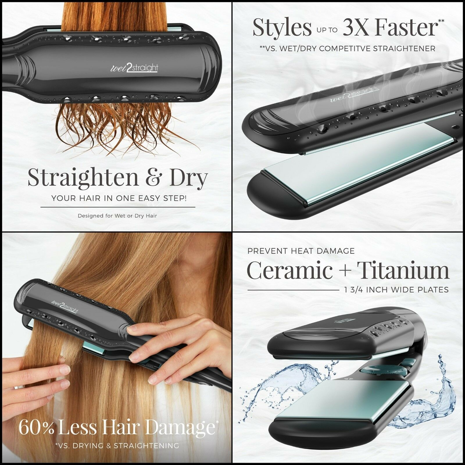 Wet To Dry Hair Straightener Remington Straight Short Long S