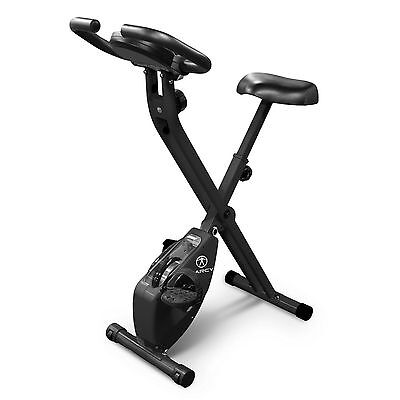 Marcy Foldable Upright Exercise Bike   NS-654 Stationary Compact Workout Bicycle